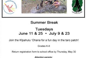 Summer Break – Kapahu Farm Days