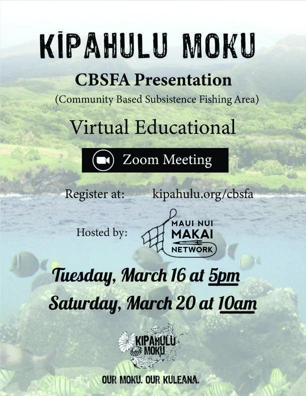 Kipahulu Moku CBSFA Presentation Flyer